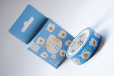 Funny fried egg washi tape