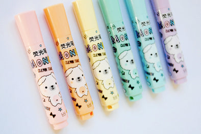 Kawaii mini highlighter pens pack