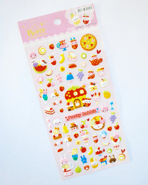 Cute sweet-tooth pretty rabbit puffy stickers