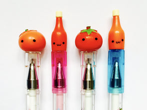 Kawaii tomato ketchup fineliner gel pen