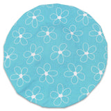 182-177 Shower Cap (White Flowers/Blue Background) - JODA Daisy Blue