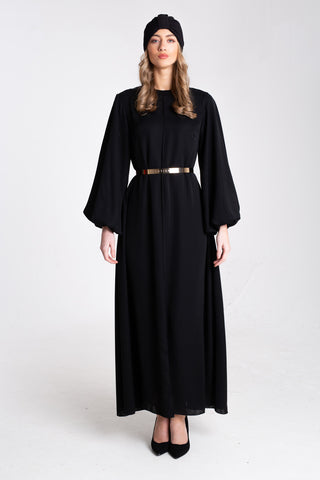 NUDE BUBBLE DRESS ABAYA
