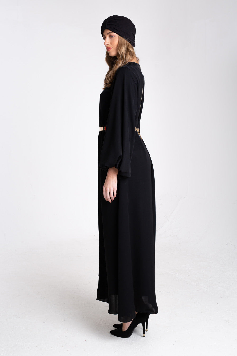BLACK BUBBLE DRESS ABAYA - Cover Me Collection