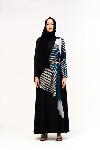 BLACK STRIPE CAPE