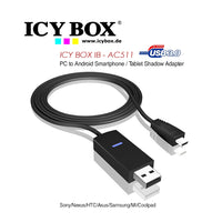 Icy Box Pc To Android Smartphone/Tablet Shadow Adapter (Ib-Ac511)