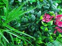 Elegant Red Rose Vertical Garden / Green Wall Uv Resistant Sample