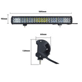 23Inch Osram Led Light Bar 5D 144W Sopt Flood Combo Beam Work Driving Lamp 4Wd