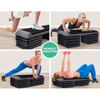 Everfit 5 Level Aerobic Exercise Step Stepper Riser Gym Cardio Fitness Bench