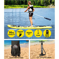 Aqua Marina 1 Person Inflatable Stand-Up Paddle Board Easy Set Up