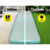 Everfit Gofun 5X1M Inflatable Air Track Mat Tumbling Floor Home Gymnastics Green