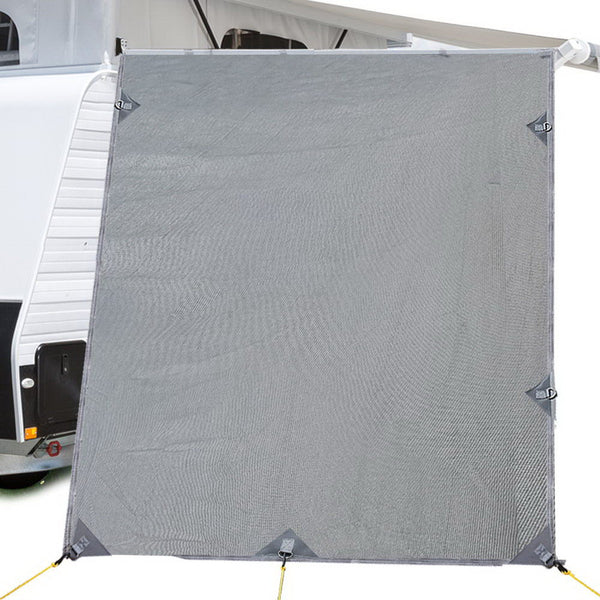 Weisshorn Caravan Roll Out Awning Pop Top End Wall - Grey Water & Uv Resistant
