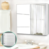 Cefito Bathroom Vanity Mirror With Storage Cavinet - White