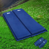 Weisshorn Self Inflating Mattress Camping Sleeping Mat Air Bed Pad Double Navy 10Cm Thick