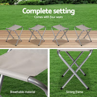 Portable Folding Camping Table And Chair Set 120Cm