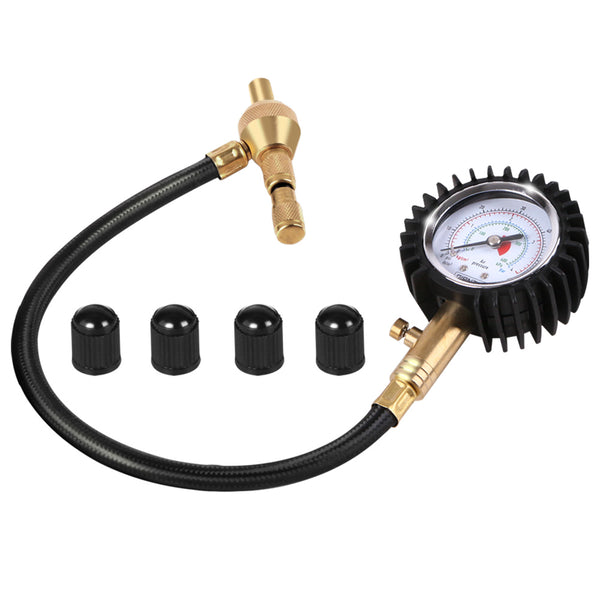 Giantz Tyre Deflater With Pressure Gauge Valve