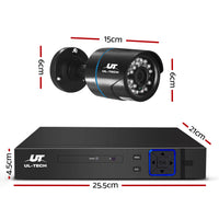 Ul Tech 1080P 4 Channel Cctv Infrared Night Vision Security Camera