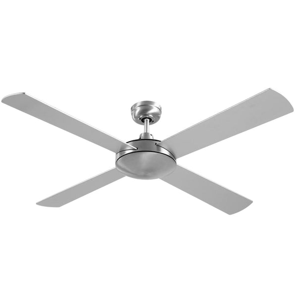 Devanti 52 Inch 1300Mm Ceiling Fan 4 Wooden Blades With Remote Reversible Fans Silver