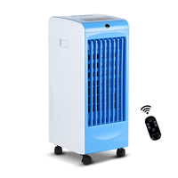 Devanti Evaporative Air Cooler - Blue Auto Swing Louvers Touch Control Panel