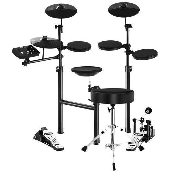 8 Piece Electric Electronic Drum Kit Drums Set Pad And Stool Kids Adults Foldable