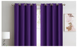 2X 100% Blockout Curtains Panels 3 Layers Eyelet Eggplant 180X230Cm