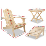 Gardeon Outdoor Chairs Table Set Sun Lounge Patio Furniture Beach Chair Lounger