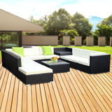Gardeon 11Pc Outdoor Furniture Sofa Set Wicker Garden Patio Lounge