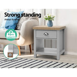 Artiss Medi Bedside Table Cabinet Drawer Tables Nightstand Side Storage Shelf