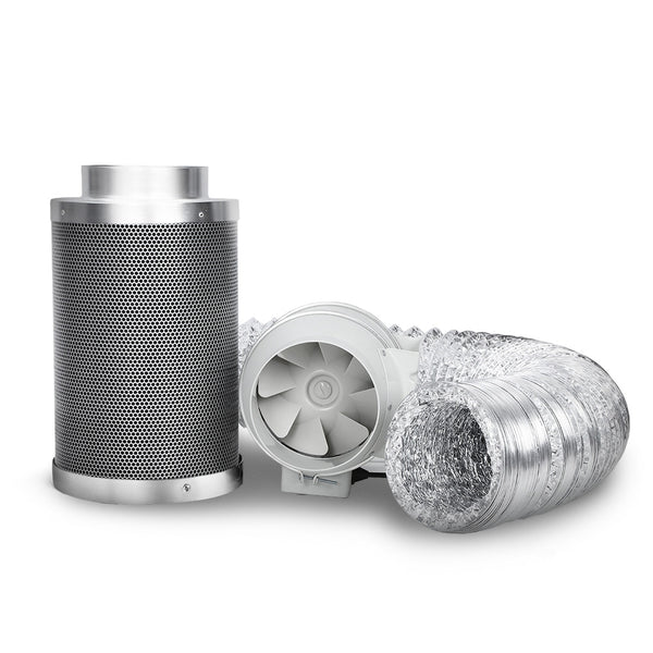 "Greenfingers 4"" Hydroponics Grow Tent Kit Ventilation Kit Fan Carbon Filter Duct"