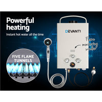 Devanti Portable Gas Hot Water Heater And Shower