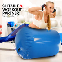 Inflatable Air Exercise Roller Gymnastics Gym Barrel 100 x 80cm - Blue