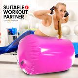 Inflatable Air Exercise Roller Gymnastics Gym Barrel 100 x 80cm - Pink