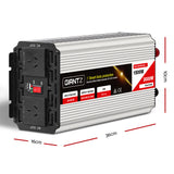 Giantz 1500W Puresine Wave Dc-Ac Power Inverter