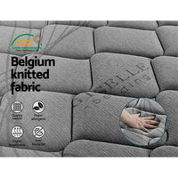 Giselle Bedding Single Size Mattress Bed Medium Firm Foam Pocket Spring 22Cm Grey