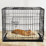 I.Pet 30Inch Pet Cage - Black Powder-Coated For Durability Weather-Resistant