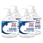 Relifeel Hand Sanitiser 2L 500Ml X4 72% Alcohol Sanitizer Gel Instant Wash