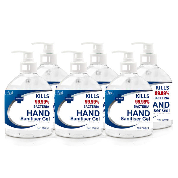 Relifeel Hand Sanitiser 3L 500Ml X6 72% Alcohol Sanitizer Gel Instant Wash