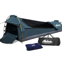 Weisshorn Biker Swag Camping Single Swags Tent Biking Deluxe Ripstop Canvas Navy