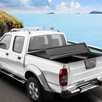 Weisshorn Fit Nissan Navara Np300 D23 Tonneau Cover Ute Clip On 3 Fold Folding