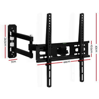 Artiss Tv Wall Mount Bracket Tilt Swivel Full Motion Flat Slim Led Lcd 23 Inch To 55 Inch