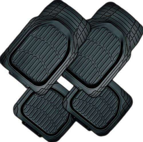 Mystic 4-Piece Car Mat - Black [Rubber]