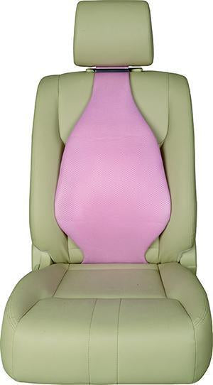 Universal Seat Cover Cushion Back Lumbar Support The Air Seat New Pink X 2