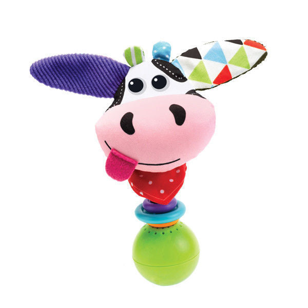 Yookidoo Cow 'Shake Me' Rattle - Battery Operated Motion Activated
