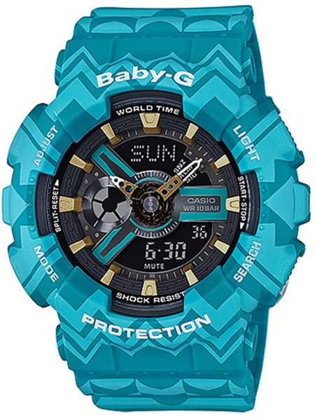 Casio Baby-G Blue Tribal Pattern Limited Edition Watch Ba110Tp-2A