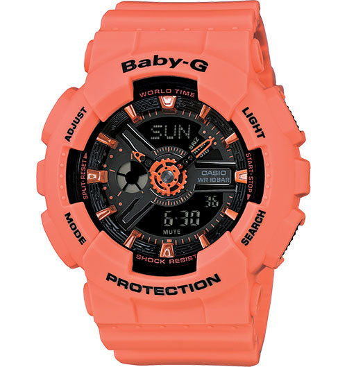 Casio Baby-G Analogue/Digital Female Pink Watch Ba-111-4A2Dr