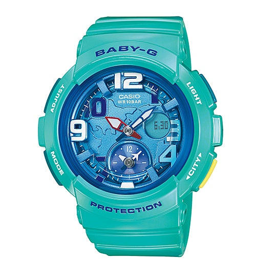 Casio Baby-G Analogue/Digital Female Blue Watch Bga-190-3Bdr