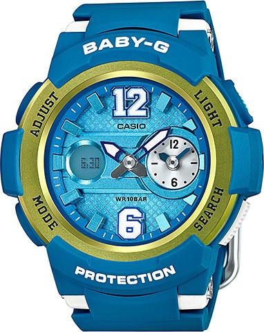 Casio Baby-G Analogue/Digital Blue Female Watch Bga-210-2Bdr