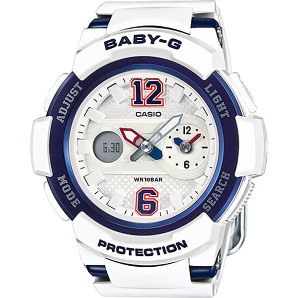 Casio Baby-G Analogue/Digital White/Blue Female Watch Bga210-7B2
