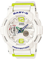 Casio Baby-G Digital Female White Watch Bga-180-7B2Dr