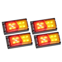 4X Lightfox Led Side Marker Amber Red Indicator Trailer Clearance Lights