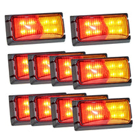 10X Lightfox Led Clearance Light Red Amber Trailer Truck Clearance Lights